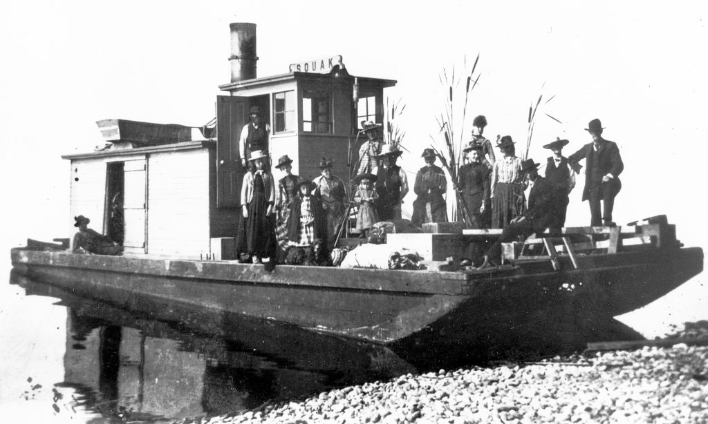 The first water transportation begins